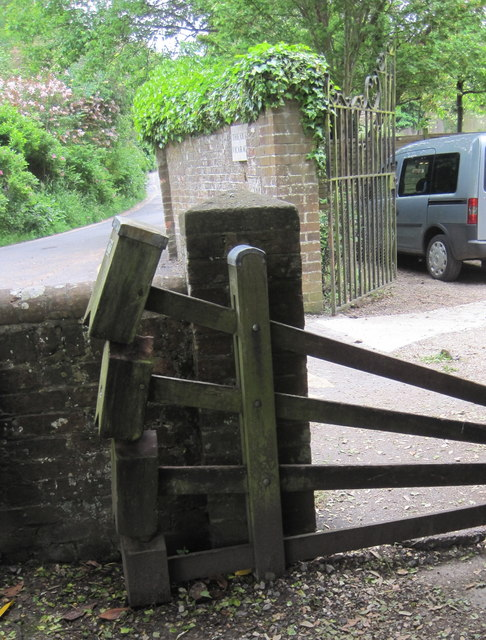 A rare Tumble Stile Gate, one of only a few left in the country. The right side of the gate is pushed down to step over, while the weights on the left return it to being a gate