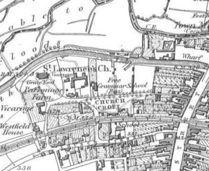 An 1882 map of The Croft, one of the most ancient parts of Hungerford Town and Manor