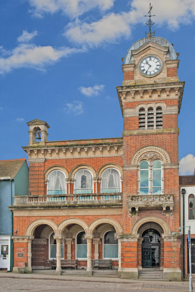 The striking Victorian Town Hall, at the heart of Hungerford Town and Manor