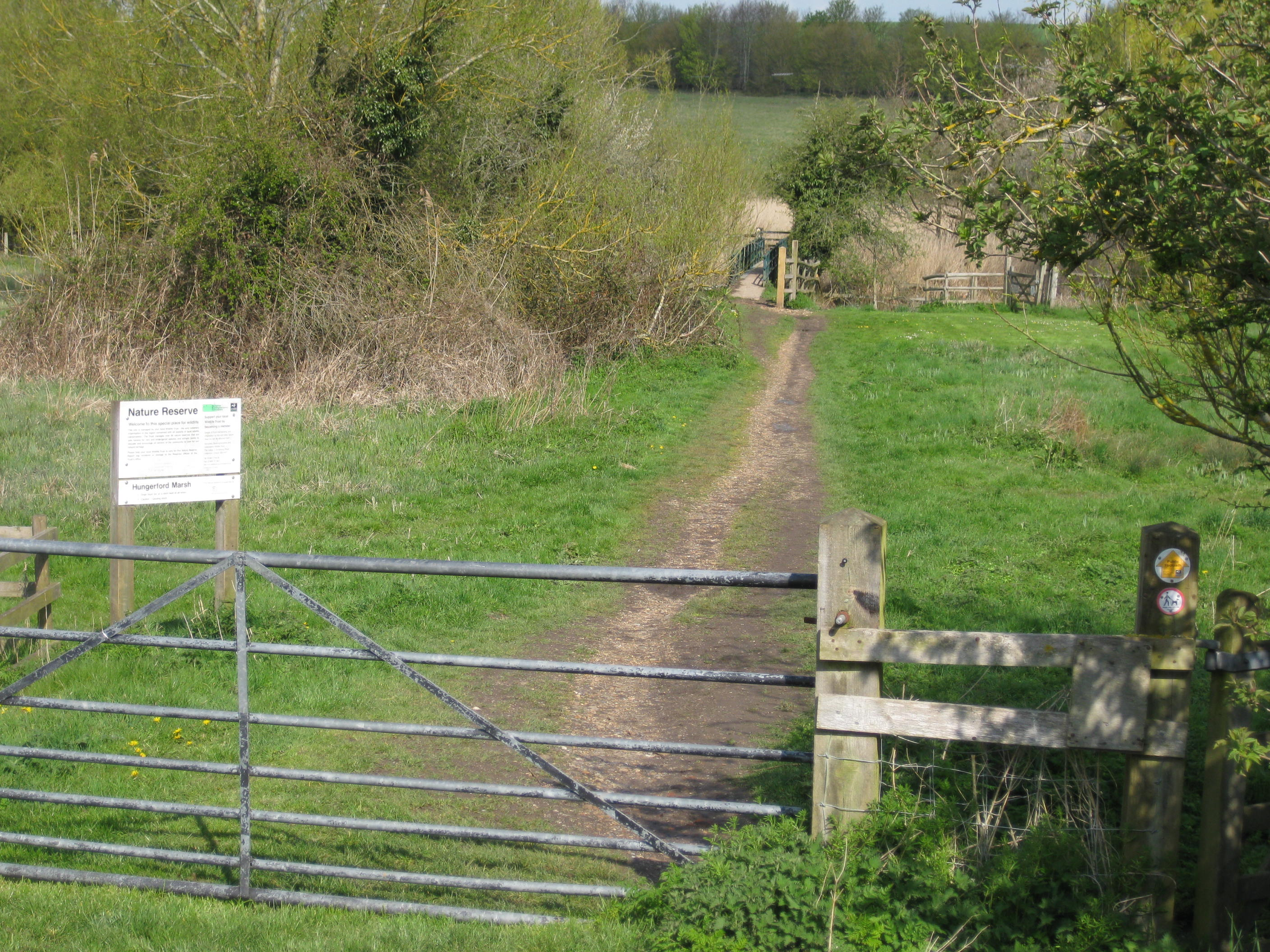 Footpaths help to protect Hungerford Marsh Nature Reserve