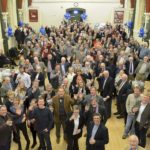 The crowd, seem from above, at the ever popular Ale Tasting