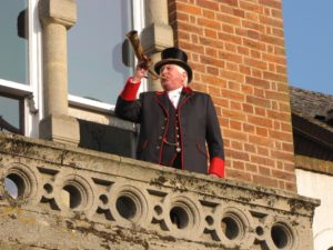 the bellman calls the commoners to court at Hungerford Town and Manor's Hocktide 2016