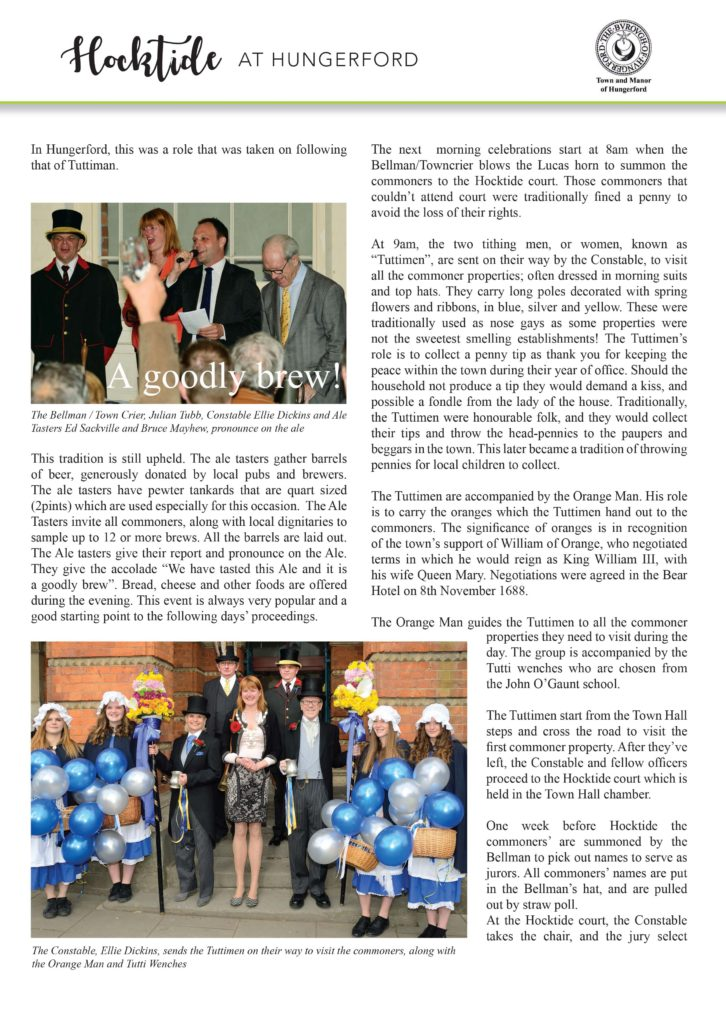 Page 2 of - Town and Manor of Hungerford's annual Hocktide, an ancient tradition still celebrated today