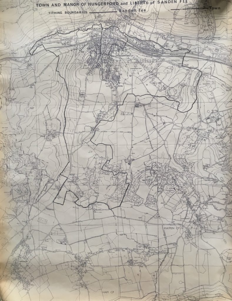 A Tithing map showing the town and manor of Hungerford