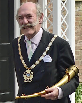 Nicholas Lumley, the newly elected Constable for the Town and Manor of Hungerford, in 2019